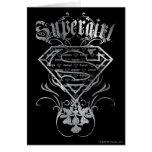 Supergirl Fancy Silver Logo Card