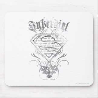 Supergirl Fancy Silver Logo Mouse Pad