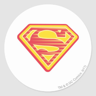 Supergirl Far-Out Logo Classic Round Sticker