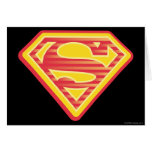 Supergirl Far-Out Logo Greeting Cards