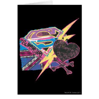 Supergirl Flag and Crossbones Card