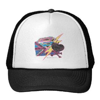Supergirl Flag and Crossbones Trucker Hat
