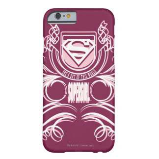 Supergirl Flourish Design Barely There iPhone 6 Case