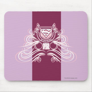 Supergirl Flourish Design Mouse Pad