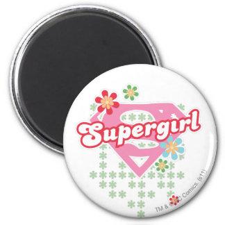 Supergirl Flower Madness Refrigerator Magnet