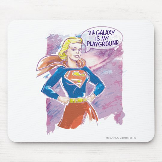Supergirl Galaxy Mouse Pad