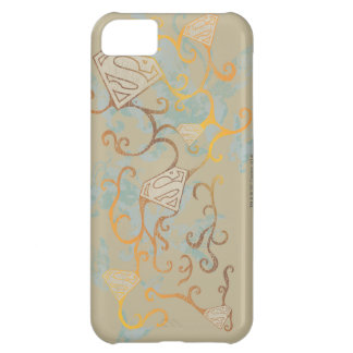 Supergirl Gold and Brown iPhone 5C Covers