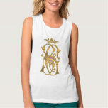 Supergirl Gold Crown Flowy Muscle Tank Top