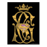 Supergirl Gold Crown Postcard