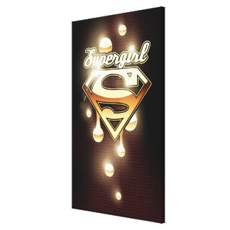 Supergirl Gold Drips Canvas Print