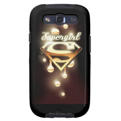 Supergirl Gold Drips Galaxy SIII Cover