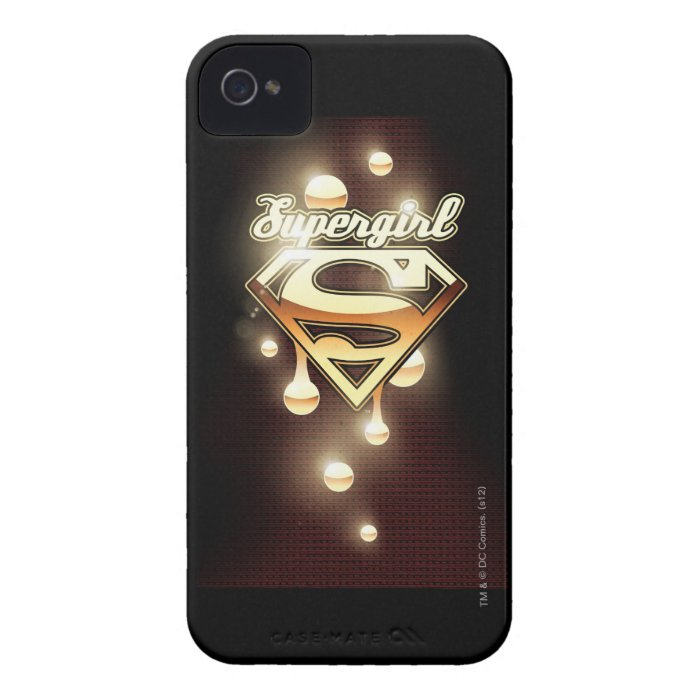 Supergirl Gold Drips iPhone 4 Case-Mate Case