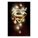 Supergirl Gold Drips Poster