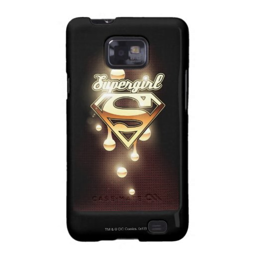 Supergirl Gold Drips Samsung Galaxy S2 Case