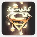 Supergirl Gold Drips Sticker