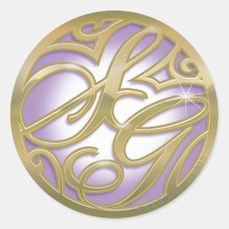 Supergirl Gold & Purple Circle Logo Classic Round Sticker