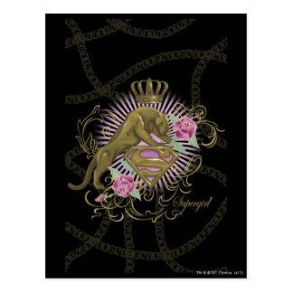 Supergirl Golden Cat 4 Post Card