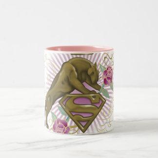 Supergirl Golden Cat 4 Two-Tone Coffee Mug
