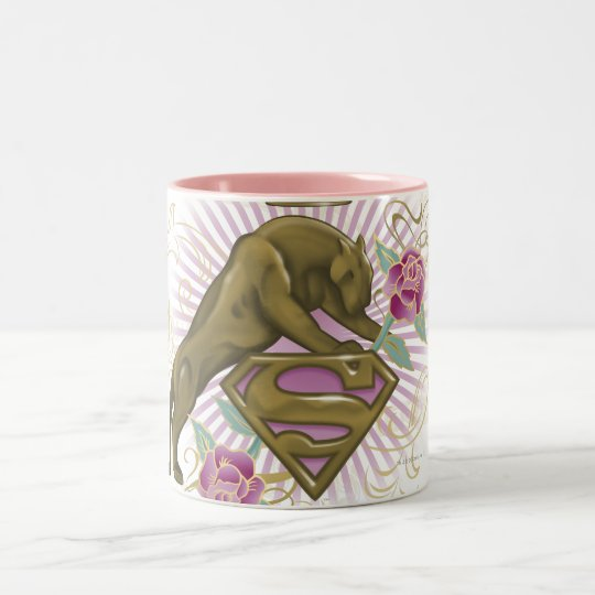 Supergirl Golden Cat 4 Two-Tone Coffee Mug