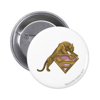 Supergirl Golden Cat Pinback Buttons