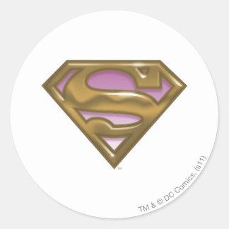 Supergirl Golden Logo Classic Round Sticker