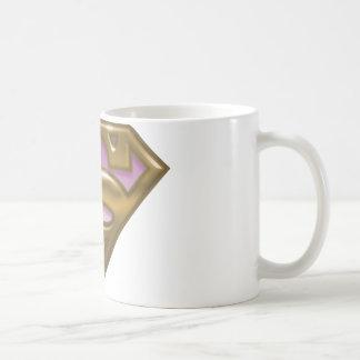 Supergirl Golden Logo Classic White Coffee Mug