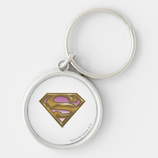 Supergirl Golden Logo Keychain