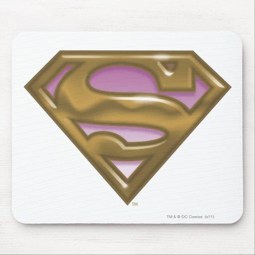 Supergirl Golden Logo Mouse Pad
