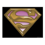 Supergirl Golden Logo Postcard