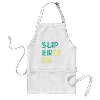 Supergirl Green and Yellow Adult Apron