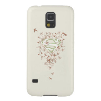 Supergirl Green Floral Logo Galaxy S5 Covers