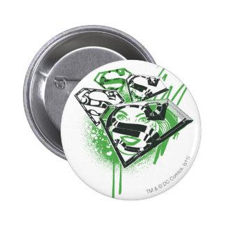Supergirl Green Spills Pinback Button