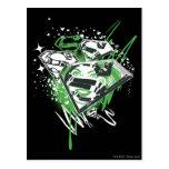Supergirl Green Spills Postcard
