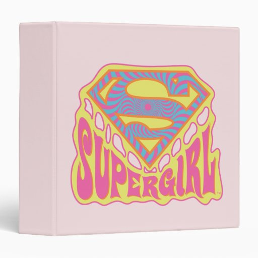 Supergirl Groovy Logo Binder