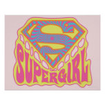 Supergirl Groovy Logo Poster