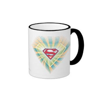 Supergirl Groovy Logo Ringer Coffee Mug