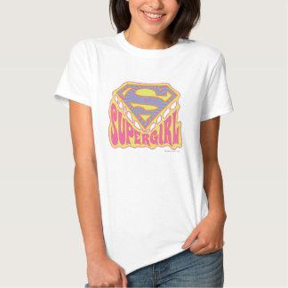 Supergirl Groovy Logo Tees