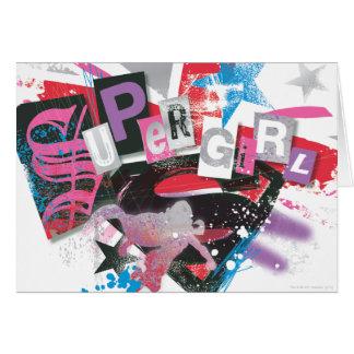 Supergirl Grunge Design Card