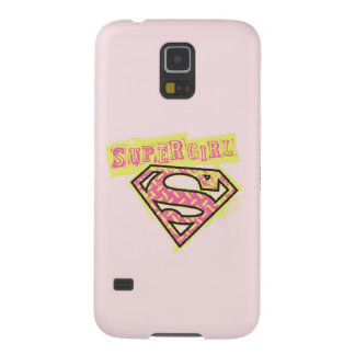 Supergirl Grunge Logo Pink Galaxy S5 Covers