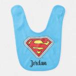 Supergirl Hand Drawn Comic Logo Baby Bib