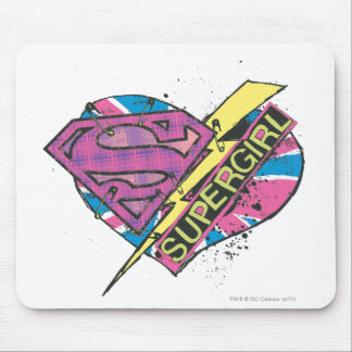 Supergirl Heart and Bolt Mouse Pad