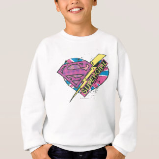 Supergirl Heart and Bolt Sweatshirt