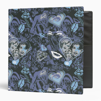 Supergirl Hearts and Lips Pattern 3 Ring Binder