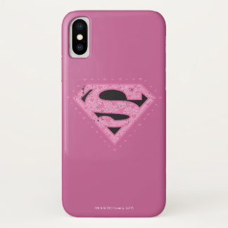 Supergirl Hearts iPhone X Case