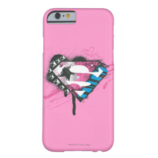 Supergirl Hearts Logo Barely There iPhone 6 Case