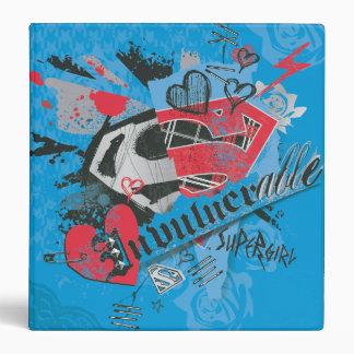 Supergirl Invulnerable Vinyl Binders