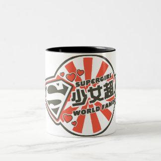 Supergirl J-Pop 13 Two-Tone Coffee Mug
