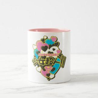 Supergirl J-Pop 4 Two-Tone Coffee Mug