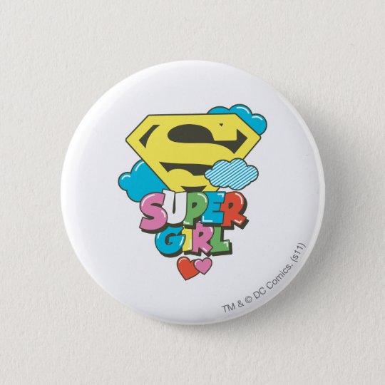 Supergirl J-Pop 5 Button