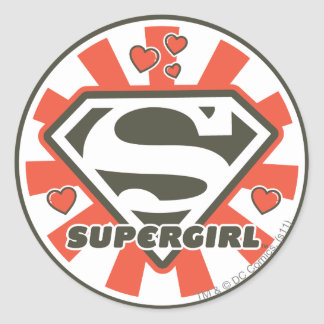 Supergirl J-Pop 7 Classic Round Sticker